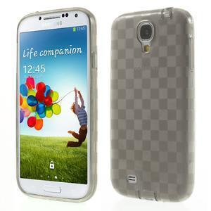 Gélové kosočvercové puzdro na Samsung Galaxy S4 i9500- šedé - 1