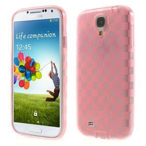 Gelpvé kosočvercové puzdro pre Samsung Galaxy S4 i9500- ružové - 1
