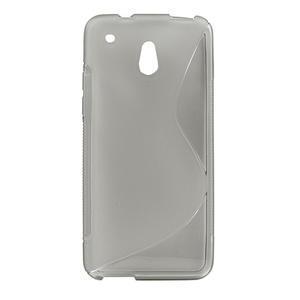 Gélové S-line puzdro pre HTC one Mini M4- šedé - 1