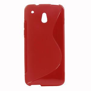 Gélové S-line puzdro pre HTC one Mini M4- červené - 1