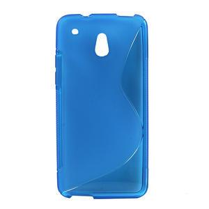 Gélové S-line puzdro pre HTC one Mini M4- modré - 1