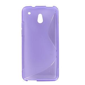 Gélové S-line puzdro pre HTC one Mini M4-fialové - 1