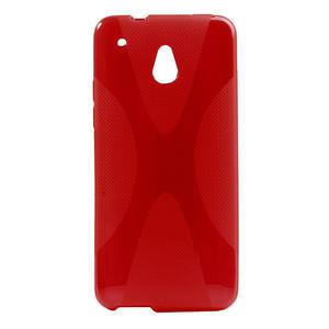 Gélové X-line puzdro pre HTC one Mini M4- červené - 1