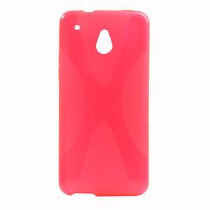 Gélové X-line puzdro pre HTC one Mini M4- ružové - 1