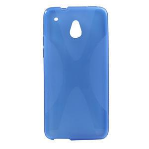 Gélové X-line puzdro pre HTC one Mini M4- modré - 1