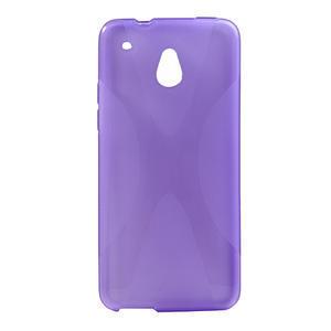 Gélové X-line puzdro pre HTC one Mini M4- fialové - 1