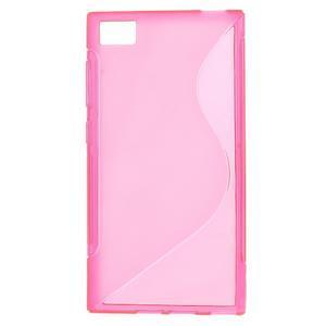 Gélové S-line puzdro na Xiaomi Mi3- růžové - 1