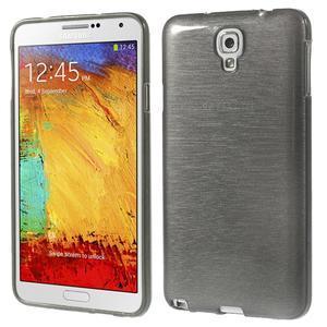 Gélové kartáčované puzdro pre Samsung Galaxy Note 3- čierné - 1