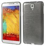 Gélové kartáčované puzdro pre Samsung Galaxy Note 3- čierné - 1/5