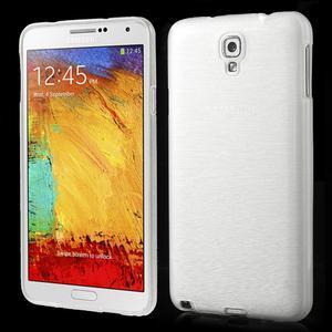 Gélové kartáčované puzdro pre Samsung Galaxy Note 3 Neo- biele - 1