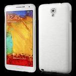 Gélové kartáčované puzdro pre Samsung Galaxy Note 3 Neo- biele - 1/3