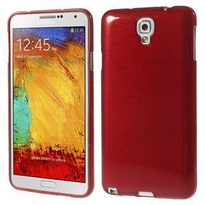 Gélové kartáčované puzdro pre Samsung Galaxy Note 3- červené - 1