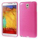 Gélové kartáčované puzdro na Samsung Galaxy Note 3 Neo- růžové - 1/5