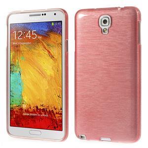 Gélové kartáčované puzdro pre Samsung Galaxy Note 3 Neo- svetloružové - 1