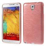 Gélové kartáčované puzdro na Samsung Galaxy Note 3- světlerůžové - 1/3