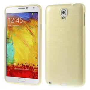 Gélové kartáčované puzdro na Samsung Galaxy Note 3- zlaté - 1