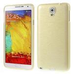 Gélové kartáčované puzdro na Samsung Galaxy Note 3- zlaté - 1/3
