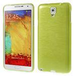 Gélové kartáčované puzdro na Samsung Galaxy Note 3- zelené - 1/5