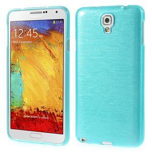 Gélové kartáčované puzdro pre Samsung Galaxy Note 3- modré - 1