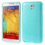 Gélové kartáčované puzdro pre Samsung Galaxy Note 3- modré - 1/5
