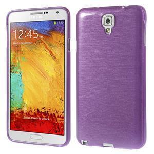 Gélové kartáčované puzdro na Samsung Galaxy Note 3- fialové - 1