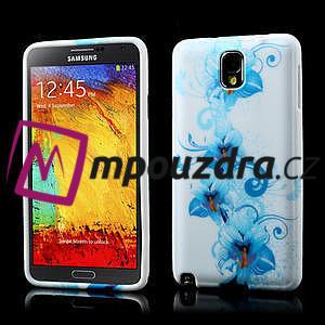 Gélové puzdro na Samsung Galaxy Note 3- modrá lilie - 1