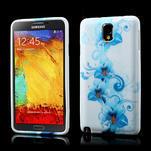 Gélové puzdro na Samsung Galaxy Note 3- modrá lilie - 1/6