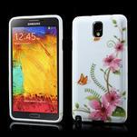 Gélové puzdro na Samsung Galaxy Note 3- červené květy - 1/6