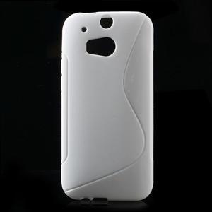 Gélové S-line puzdro pre HTC one M8- biele - 1