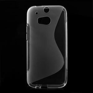 Gélové S-line puzdro pre HTC one M8- transparentný - 1