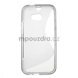 Gélové S-line puzdro pre HTC one M8- šedé - 1