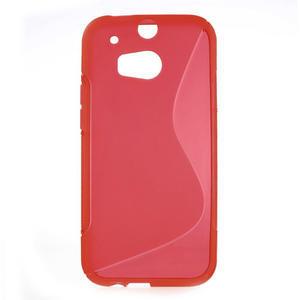 Gélové S-line puzdro pre HTC one M8- červené - 1