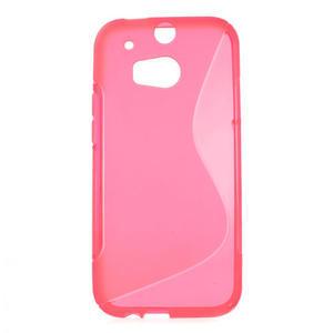 Gélové S-line puzdro pre HTC one M8- ružové - 1