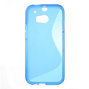 Gélové S-line puzdro pre HTC one M8- modré - 1