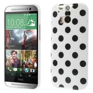 Gélové-PUNTÍKY puzdro pre HTC one M8- čierné - 1