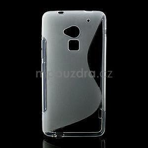 Gélové S-line puzdro pre HTC one Max-transparentný - 1