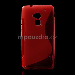 Gélové S-line puzdro pre HTC one Max-červené - 1