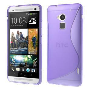 Gélové S-line puzdro na HTC One Max- fialové - 1