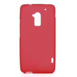 Gélové matné puzdro pre HTC one Max- červená - 1