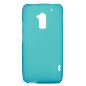 Gélové matné puzdro pre HTC one Max- svetlo modré - 1