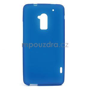Gélové matné puzdro pre HTC one Max- modré - 1