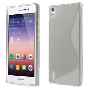 Gélové S-line puzdro na Huawei Ascend P7- šedé