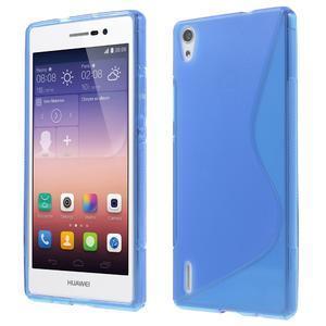 Gélové S-line puzdro na Huawei Ascend P7- modré
