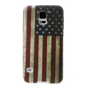 Gélové puzdro pre Samsung Galaxy S5- USA vlajka - 1