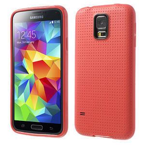 Gélové puzdro pre Samsung Galaxy S5- červené - 1