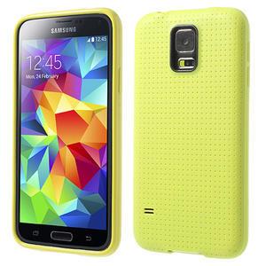 Gélové puzdro pre Samsung Galaxy S5- žlté - 1