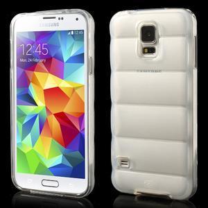 Gelové vesta pouzdro na Samsung Galaxy S5- bílé - 1