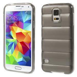 Gélové vesta puzdro pre Samsung Galaxy S5- šedé - 1
