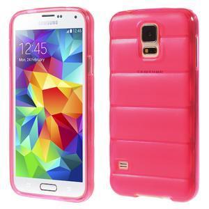 Gelové vesta pouzdro na Samsung Galaxy S5- růžové - 1