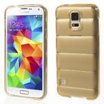 Gélové vesta puzdro pre Samsung Galaxy S5- zlaté - 1/6